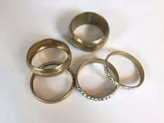 Five Vintage Bangles Destash Jewelry Lot All by ColorfulMeVintage