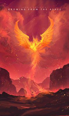 Trendy phoenix bird drawing art the ashes 39 Ideas Wow Art, Fantasy Landscape, Anime Scenery, Fantasy Artwork, Fantasy World, Mythical Creatures, Art Blog, Oeuvre D'art, Game Art
