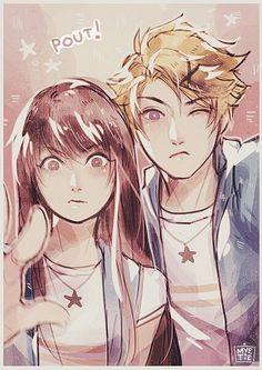 couple, mystic messenger, and Mc image