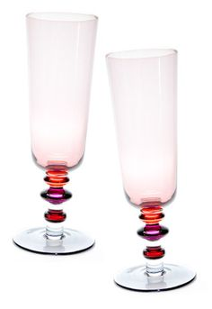 Spectra Champagne Flute Set in Rose