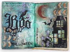 Bumblebees and Butterflies: Halloween Journal pages