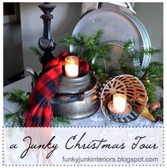 A JUNKER'S FULL HOME TOUR of all things Christmas... for virtually free! via Funky Junk Interiors