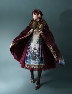 LolitaWardtobe - Bring You the latest Lolita dresses, coats, shoes, bags etc from Trustworthy Taobao indie Brands. We never resell Lolita items from untrustworthy Taobao stores. Moda Lolita, Lolita Mode, Big Fashion, Fashion Design, Larp Fashion, Fashion Cape, Cyberpunk Fashion, Future Fashion, Steampunk Fashion