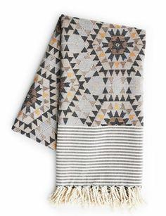 Heavenly Honeycomb Grey Blanket