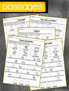 October Just Print Fluency Pack by Miss DeCarbo