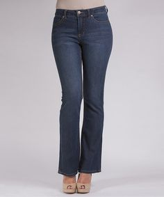 Take a look at this Dark Blue Lucy Bootcut Jeans - Women by Liverpool Jeans Company on #zulily today!