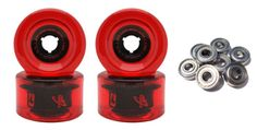 Wheels 165946: Globe Longboard Wheels + Abec 7 Bearings 70Mm 78A Red G-Shock Usa Made -> BUY IT NOW ONLY: $31.95 on eBay!