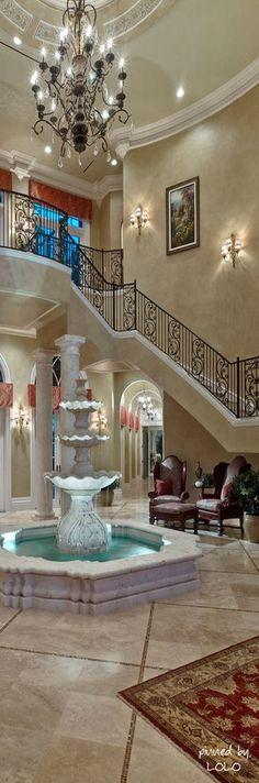 AMAZING FOYER | An amazing foyer with a beautiful stairway| bocadolobo.com/ #modernentryway #entrywayideas