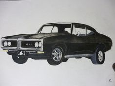 Classic Car Portrait Watercolor 1969 GTO 11 x 15 inch You Provide The Picture or Idea made to order by Pigatopia - List of the most beautiful classic cars 1969 Gto, Handmade Gifts For Him, Santa Sleigh, Watercolor Portraits, Pet Memorials, Hand Painted Ceramics, Ceramic Painting, Custom Items, Classic Cars