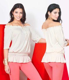 Coral y beige. Excelente combinación de #moda femenina Dupree