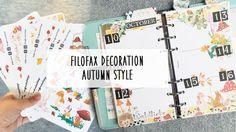 Filofax Decoration - Autumn Style