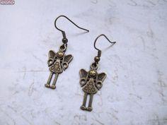 Ohrringe Engel Bronze Vintage