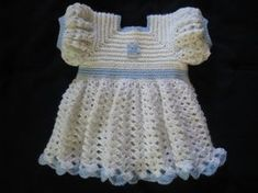 A Ruffled Crocheted Baby Dress