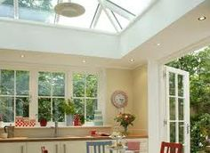 kitchen extension into a conservatory Orangerie Extension, Conservatory Extension, Conservatory Design, Victorian Terrace House, 1930s House, Kitchen Orangery, Cottage Interiors, House Extensions, Glass Kitchen