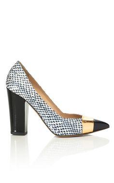 Shop Block Heel Pump by Nicholas Kirkwood Now Available on Moda Operandi