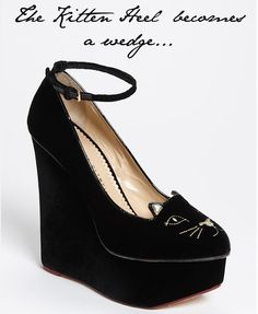 Cat wedges... yes please!