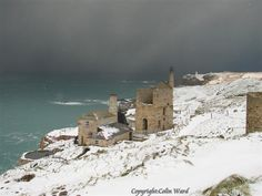 Snow at Levant Mine in West Cornwall