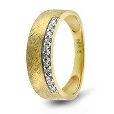 Ring i gull med diamant 0,10 ct WSI - Juvelen gullsmed