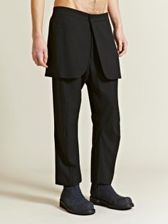 Thamanyah Men's Cool Wool Demi Costume Trousers