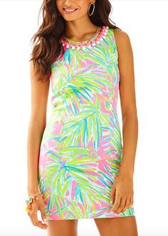 Lilly Pulitzer Mila Shift Dress - Tiki Pink Royal Lime