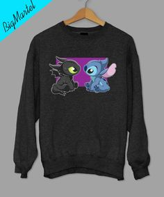 Buy Baby Toothless Dragon and Stitch Sweatshirt from bigmartel.com This t-shirt is Made To Order, one by one printed so we can control the quality. We use newest DTG Technology to print on to Baby Too