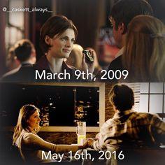Their 1st and last moment❤️❤️ #1x01 #8x22 #castleabc #castle #castletvshow #katebeckett #richardcastle #always #stanakatic #nathanfillion