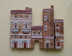 Miniature casette in rilievo Roma Mini terre  (little houses, mini land, miniature, casette in miniatura Miniterre)