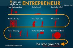 9 Signs You Might Be An Entrepreneur Inpired by... | Funders and Founders Notes