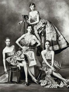 nice Moschino Fall 2014 | Carolyn, Karen, Raquel, Stella, Saskia + Linda por Steven Meisel  [Campaign]