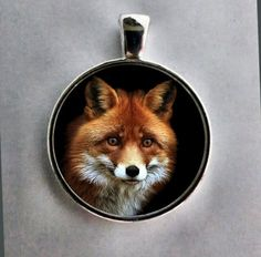 Red Fox Pendant, Fox Necklace ,Fox Jewelry, Wildlife Jewelry, Red Fox Key Chain, Red Fox.  FREE SHIPPING