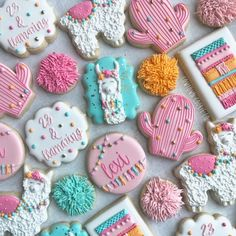 23 and feeling llamazing🌸🦙💕 Happy Birthday 💕 Iced Cookies, Royal Icing Cookies, Cake Cookies, Joint Birthday Parties, 2nd Birthday, Happy Birthday, Cookie Crush, Cookie Recipes, Cookie Ideas