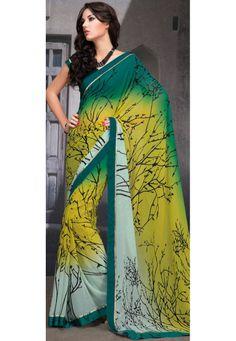 tree pattern sari