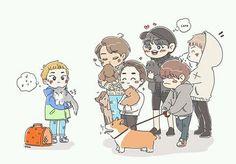 EXO y sus mascotas.