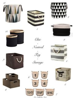 Chic Neutral Toy Storage // Live Simply by Annie