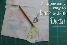 A Super Easy Way to Trace and Sew Darts