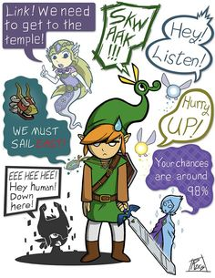 Annoying companions Link had to deal with╥﹏╥
