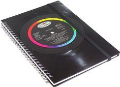 Notizbuch aus Vinyl Cocker von VinylKunst Aurum - Schallplatten Upcycling der besonderen ART auf DaWanda.com