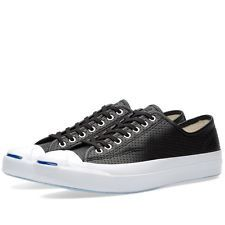 b6bcf439205 Converse Jack Purcell Signature OX Perforated Leather Black Style 151475C