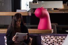 Polyethylene decorative object DRAGO By Plust design Alberto Ghirardello Modern Toys, Decorative Objects, Sketchbooks, Organizers, Notebooks, Pens, Table Lamp, Organization, Beautiful