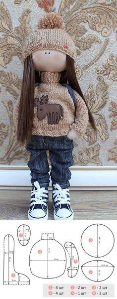 Шьем модную куклу