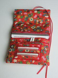 Blague à tabac / pochette à tabac pratique en tissu japonais rouge motifs…