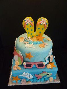 Flip flop Beach Cake by Yvonne C., Twin Cities, MN, www.birthdaycakes4free.com by Birthday Cakes 4 Free, via Flickr #cake