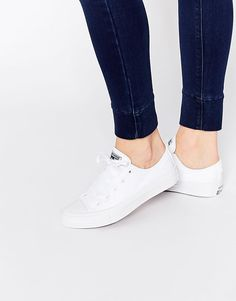Converse | Converse All Star Chuck Taylor Pure White Ox II Plimsoll Trainers at ASOS