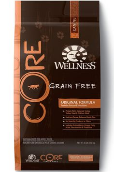 Wellness CORE Natural Grain Free Dry Dog Food, Original Turkey & Chicken Recipe, Bag natural, protein-rich, grain free dog food formulated just Best Puppy Food, Best Dry Dog Food, Grain Free Puppy Food, Top Dog Food Brands, Top Dog Foods, Wellness Core, Organic Dog Food, Dog Food Reviews, Recipes