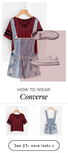 """rED"" by nyahlater1 on Polyvore featuring Converse"