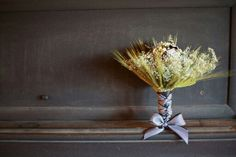 Used wheat and brooches in my bouquet