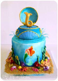 Gâteau La petite sirène (2) Little mermaid cake