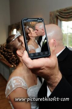 Bride & Groom Kissing by Picture This