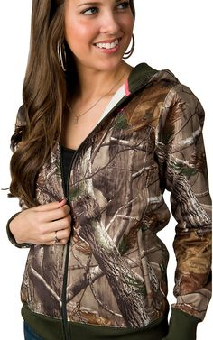 Under Armour® Cold Gear™ Women's Realtree Camo Zip Up Hooded Jacked | Cavender's Boot City