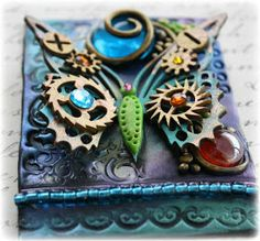 Such a Pretty Mess: VIDEO TUTORIAL: Polymer Clay and Chipboard ATC!!